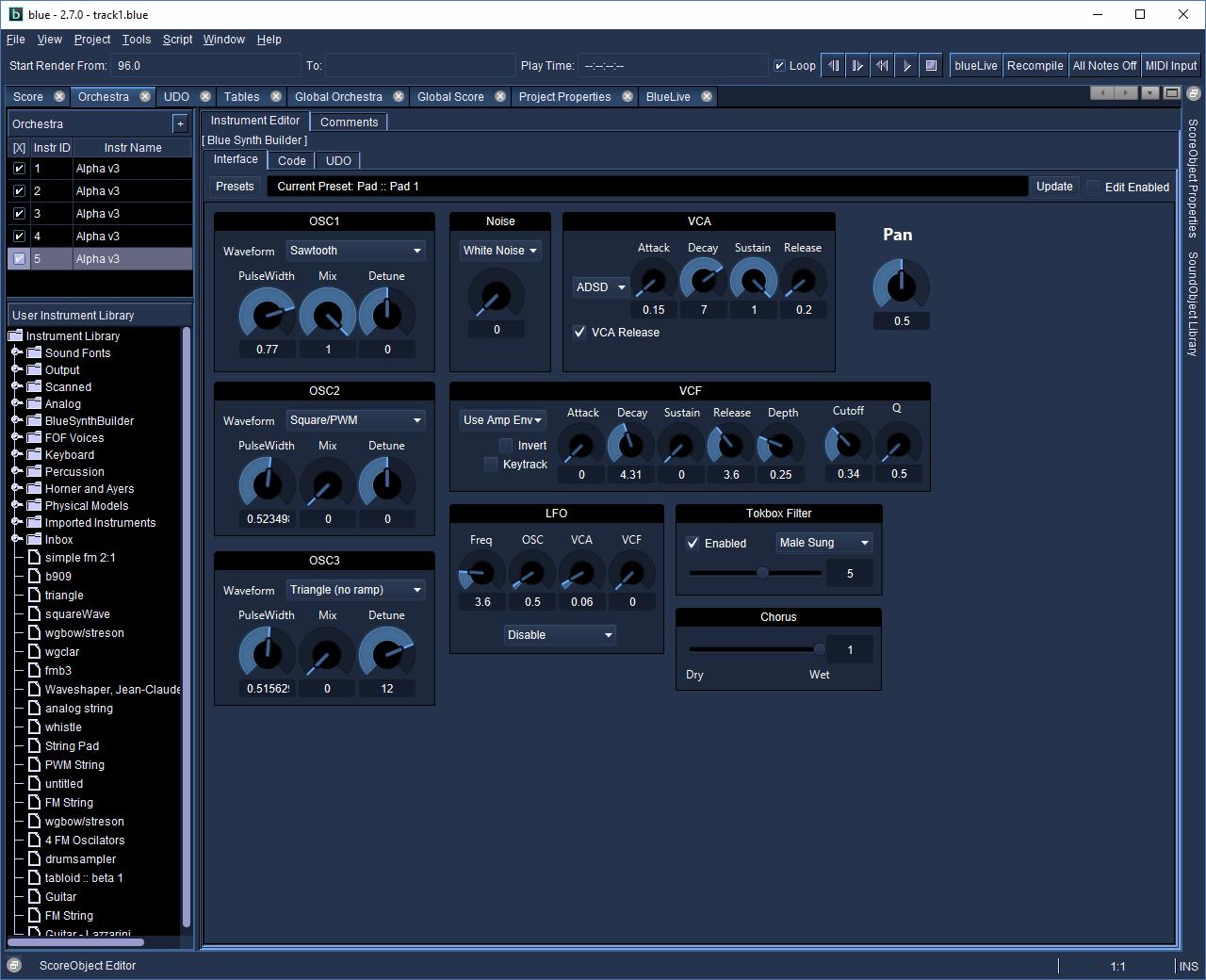 blue for Mac full screenshot